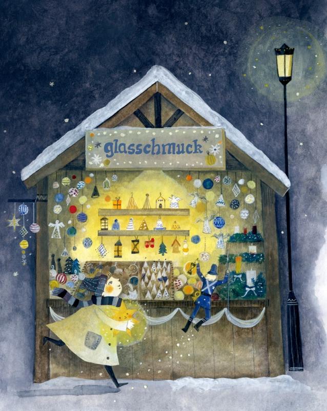 クリスマスマーケットのふしぎなよる挿絵